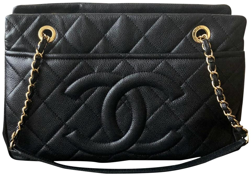 4ca805c47426 Chanel Timeless Quilted Large Soft Shopper Tote Black Caviar Leather ...