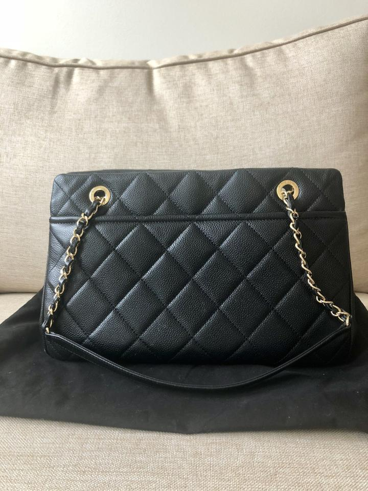 Chanel Timeless Quilted Large Soft Shopper Tote Black Caviar Leather  Shoulder Bag - Tradesy 2a841f133d714