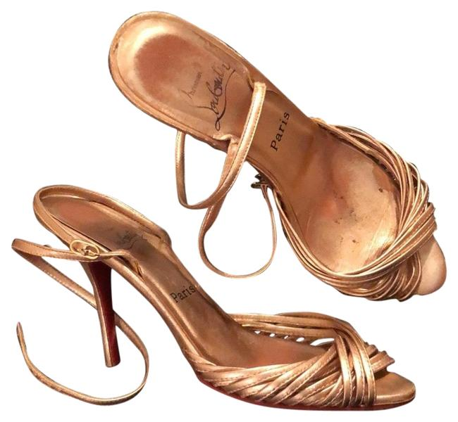 Item - Rose Gold Strappy Sandals Size EU 38 (Approx. US 8) Narrow (Aa, N)