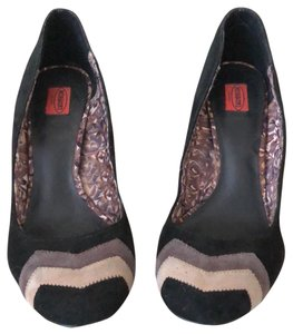 Missoni for Target black with two tone zig-zag brown accent Platforms