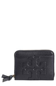 Tory Burch TORY BURCH Bombe T' Leather Zip Coin Case Wallet
