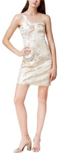 Glamorous Metallic One Shoulder Dress
