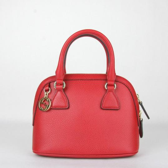 Gucci Leather Gg Charm Mini Dome Shoulder Bag