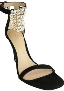 Stuart Weitzman Strappy Classic Formal Party Crystal Black Sandals