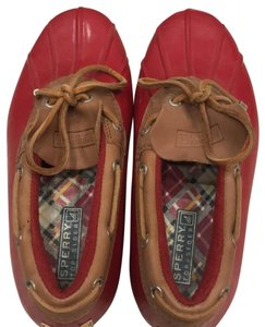 Sperry red brown plaid Boots