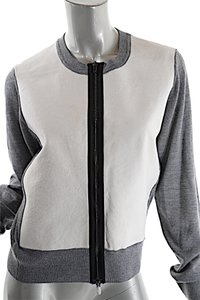 Reed Krakoff Cashmere Blend Zip Cardigan