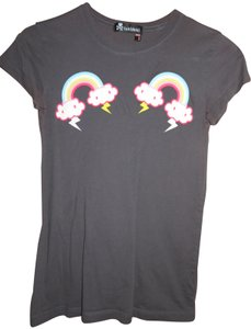 Tokidoki Thunder Rainbow Clouds Cute T Shirt Gray