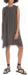 Max Studio short dress Black Polka Dot Ruffle on Tradesy