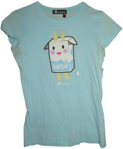 Tokidoki Milk Latte Cute Happy T Shirt Light Blue