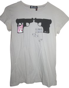 Tokidoki Gun Bullet Cute Happy T Shirt Light Gray/Blue