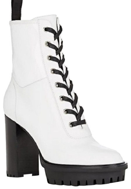 Item - White Martis Lace-up Ankle Boots/Booties Size EU 37 (Approx. US 7) Regular (M, B)