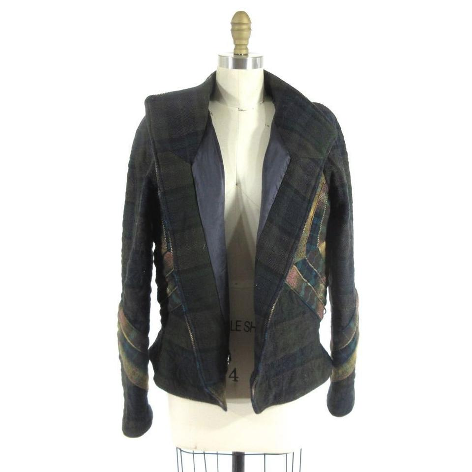 Green Quilted Isabel Wool Jacket Plaid Marant fA0IRI