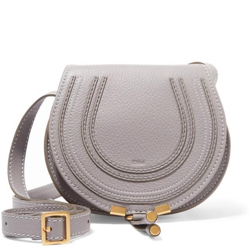 a725539101 Chloé Marcie Mini Gray Calfskin Leather Cross Body Bag - Tradesy