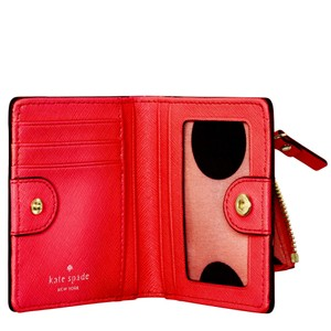 Kate Spade Cedar Street Stacy Small Mini Wallet Leather Cherry Red Liqueur