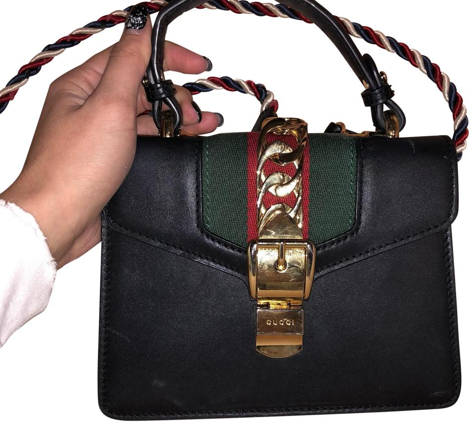 Gucci Sylvie Mini Black Leather Cross Body Bag - Tradesy 2bdf781ff2f7f