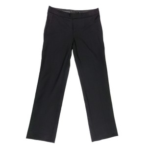 Theyskens' Theory Dress Straight Leg Career Office Stretchy Trouser Pants Black