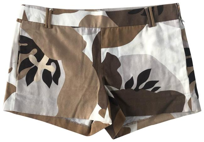 Item - Tan and White City Fit Floral Cotton Shorts Size 2 (XS, 26)