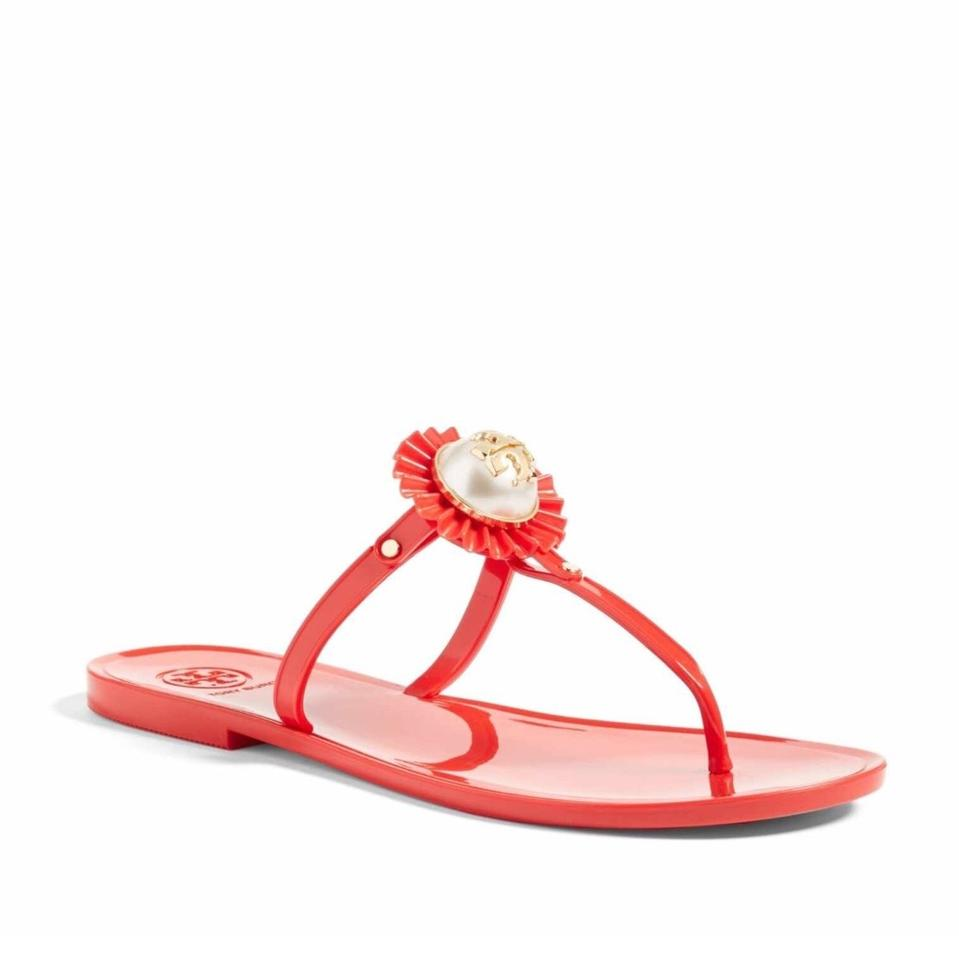 1d0d74120f8f Tory Burch Nantucket Red Melody Sandals Size US 5 Regular (M