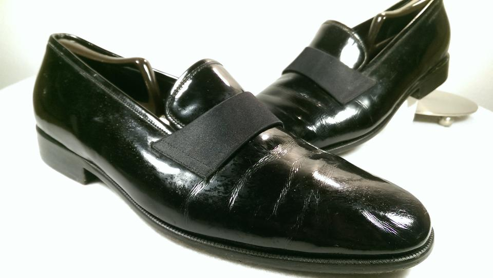 Nordstrom Black Leather Men S Formal Dress Tuxedo Loafer 12 Shoes