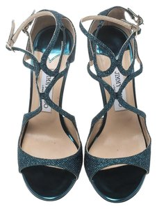 Jimmy Choo Strappy Metallic Sandals