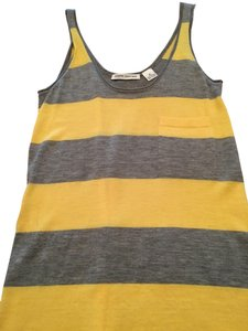 Autumn Cashmere Top Yellow and gray