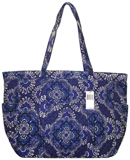 Item - Get Carried Away In Blue Tapestry Cotton Tote