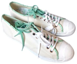 Converse Leather Cream Green Athletic