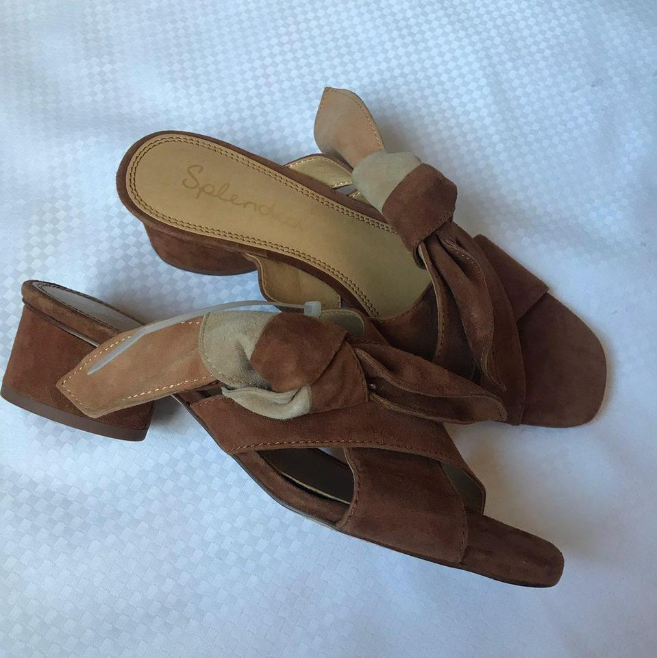 4e292ef96 Splendid Cognac Women's Bow Knot Slip-on Suede Sandals Size US 7.5 ...