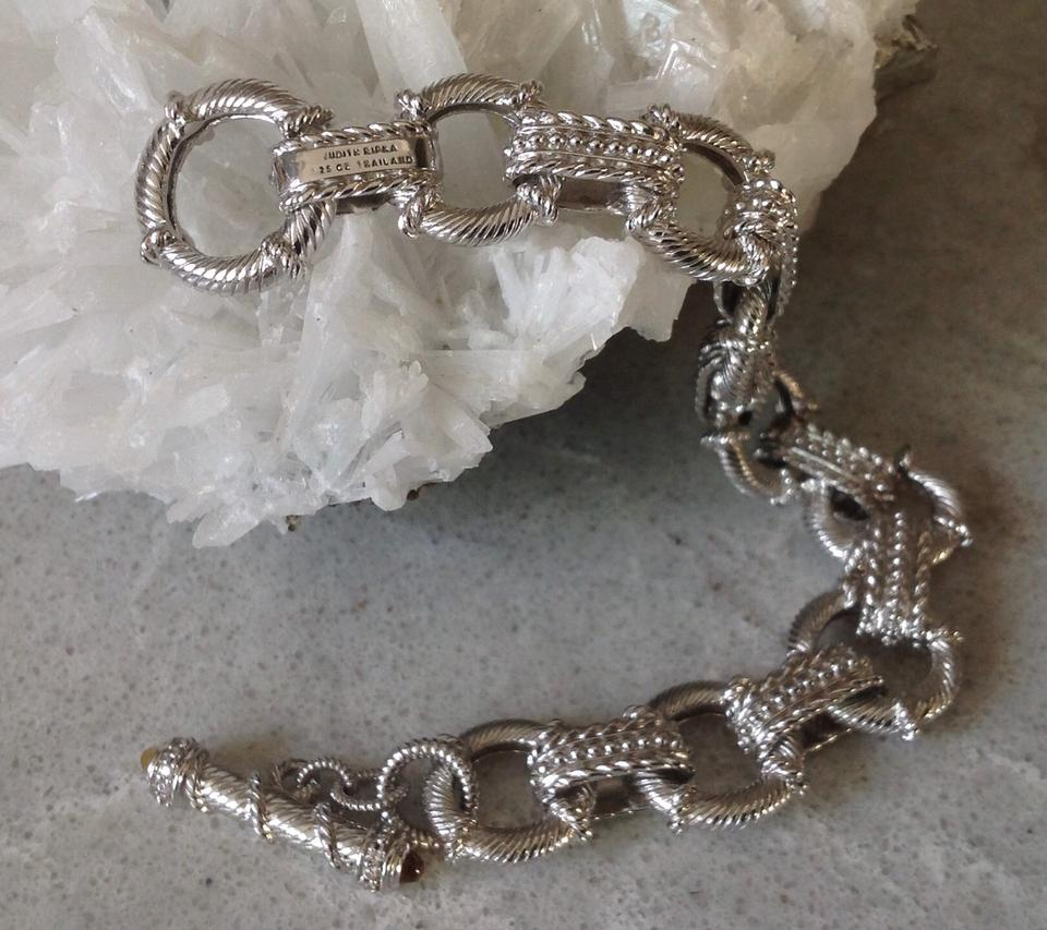 8968f9e11403a Judith Ripka Sterling Silver Chain Texture Citrine Toggle Bracelet 53% off  retail