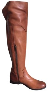 Frye Brown Melissa Western Over The Knee Cognac Leather Boots Booties Boots