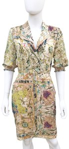 Etro short dress Multi Silk Printed Italy Collared Pencil Skirt on Tradesy