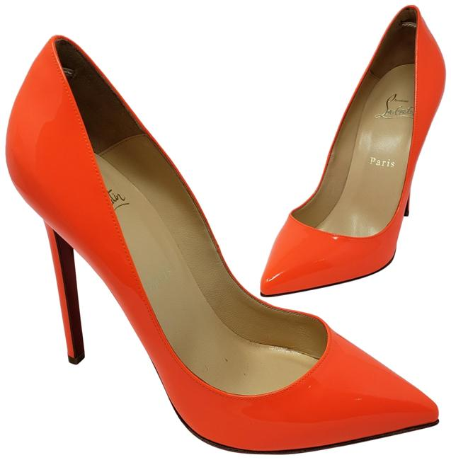Item - Neon Orange Patent Leather Pigalle 120 Pumps Size US 6.5 Narrow (Aa, N)