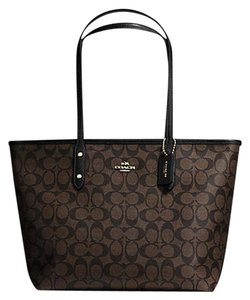 Coach Satchel 36876 Shoulder City City Tote in Brown black