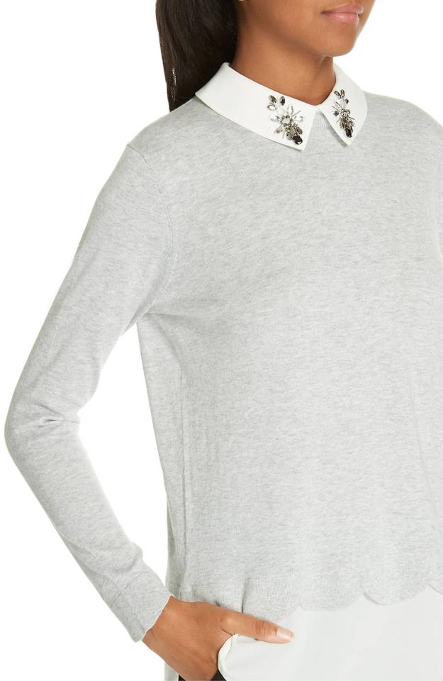 66afe4d2899ed Ted Baker Suzaine Layered Jumper Grey Sweater - Tradesy