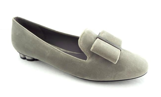 Item - Urban Gray Signature Logo Bow Smoking Slipper Loafer Flats Size US 8.5 Wide (C, D)