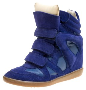 Isabel Marant Suede Leather Rubber Blue Wedges