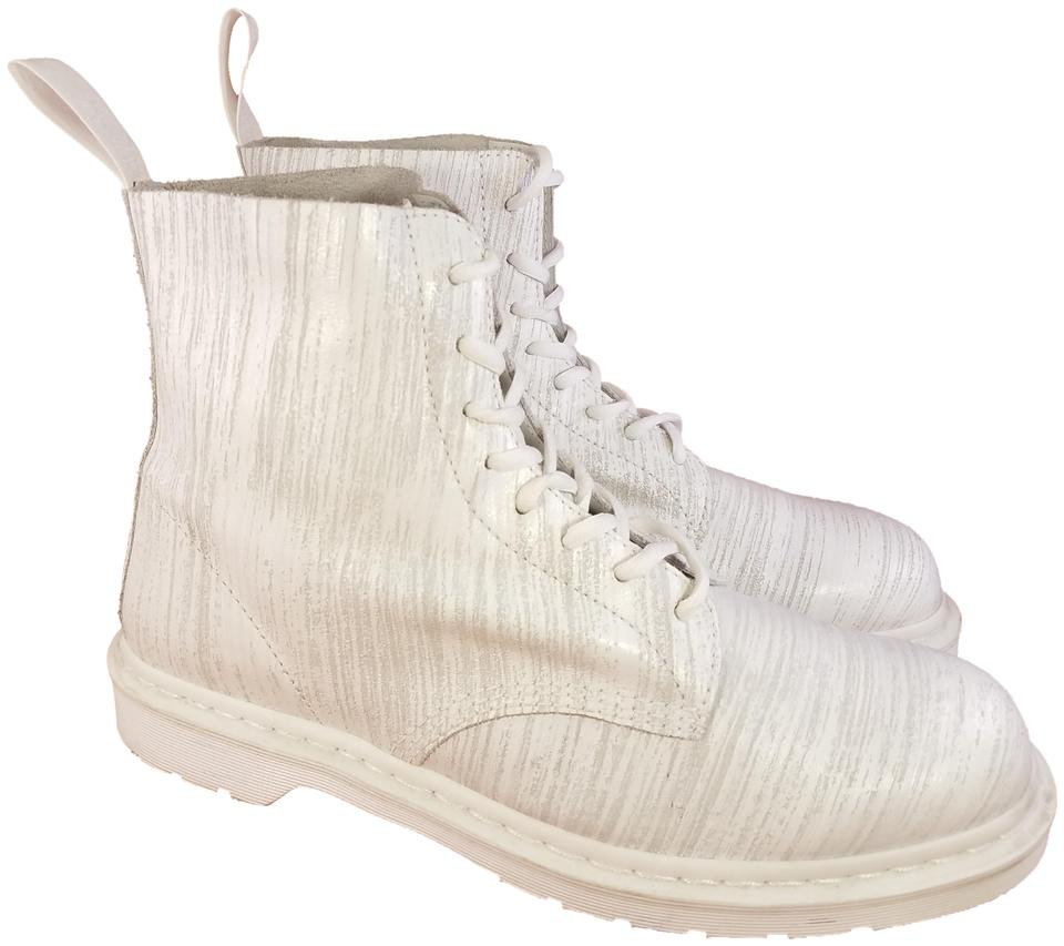 Dr. Martens White Pascal Men Leather Chukka Chelsea Lace Up 1 Boots ... 88e3cfd49