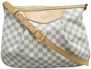 Louis Vuitton Siracusa Damier Azur Canvas Shoulder Bag