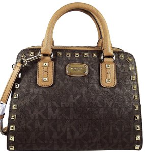 Michael Kors Pvc 191262300592 Satchel in Brown