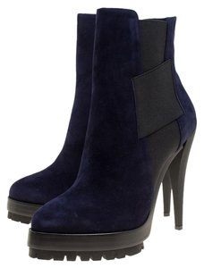 Casadei Suede Ankle Blue Boots