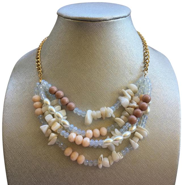Item - Gold Layer Crystal Shell Bead Pearl Chain Bohemian Necklace