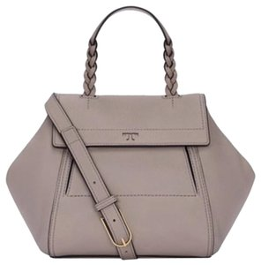 Tory Burch Half Moon Satchel in French gray