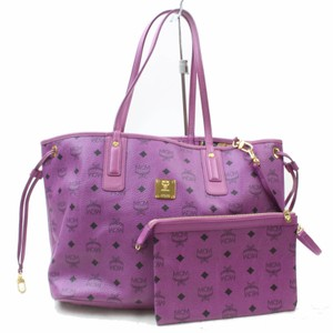MCM Anya Neverfull Shopper Shopping Tote in Purple