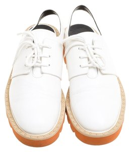 Stella McCartney Faux Leather Slingback Oxford White Flats