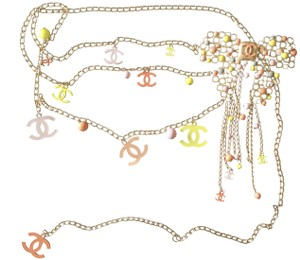 Chanel Nearly Mint ! ✿*゚EXQUISITE Ex large Butterfly Necklace Belt