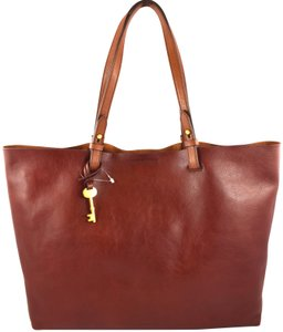 Fossil Tote in Henna Brown