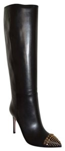 Gucci Leather Studded Black Boots