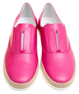 Tod's Leather Espadrille Pink Flats