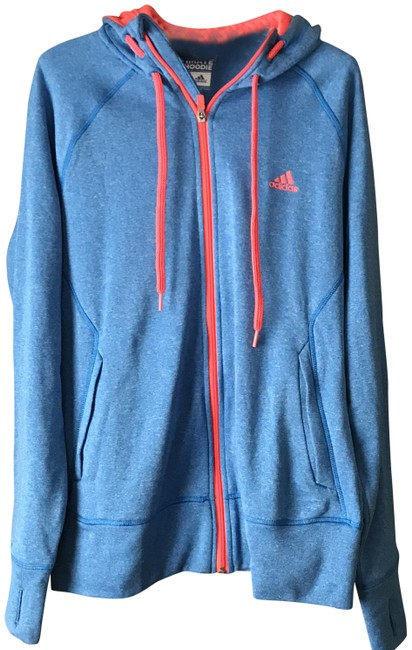 Item - Heathered Blue W/Orange Climawarm Logo Activewear Outerwear Size 12 (L)