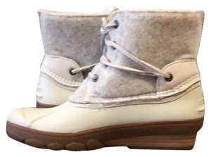 Sperry Cream Boots